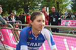 Omer Shapira of Israel at the end of the Women Elite Road Race of the UCI World Championships 2019 running 149.4km from Bradford to Harrogate, England. 28th September 2019.<br /> Picture: Seamus Yore | Cyclefile<br /> <br /> All photos usage must carry mandatory copyright credit (© Cyclefile | Seamus Yore)