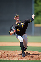 Pittsburgh Pirates pitcher Blake Weiman (74) delivers a pitch during a Florida Instructional League game against the New York Yankees on September 25, 2018 at Yankee Complex in Tampa, Florida.  (Mike Janes/Four Seam Images)