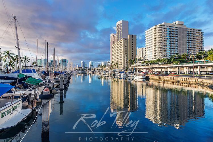 USA, Hawaii, Oahu, Honolulu, Ala Moana Marina