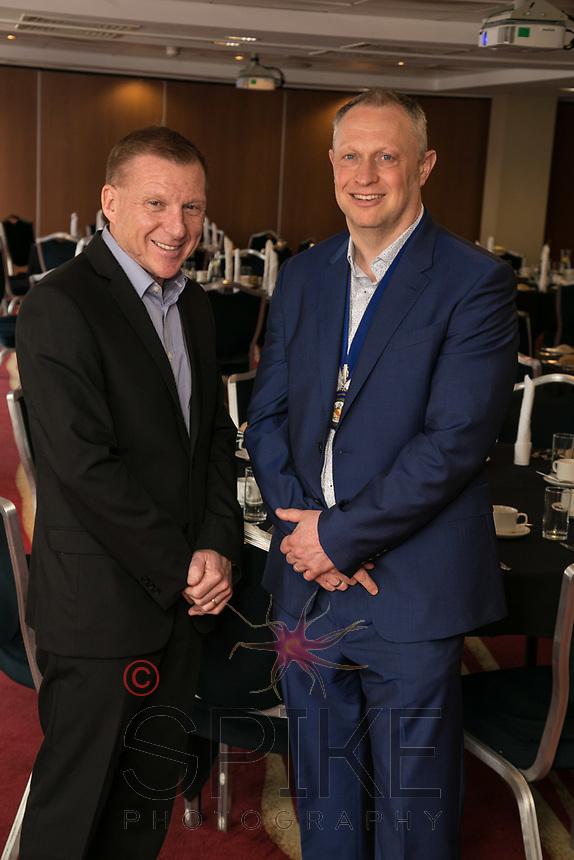 Guest speaker John Van de Laarschot with Club President Mark Deakin