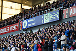 Rangers fans stand and applaud on 2 minutes for Sandy Jardine who is fighting cancer. Sandy played in a royal blue no 2 shirt