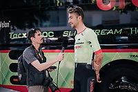 Taylor Phinney (USA/Cannondale-Drapac) interviewed by Cyclingtips reporter Shane Stokes<br /> <br /> 104th Tour de France 2017<br /> Stage 6 - Vesoul › Troyes (216km)