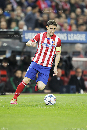 Gabi (Atletico), MARCH 11, 2014 - Football / Soccer : UEFA Champions League match between Atletico de Madrid and AC Milan at the Vicente Calderon Stadium in Madrid, Spain. (Photo by AFLO) [3604]