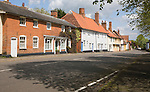 Attractive terrace of village houses, Walsham le Willows, Suffolk, England