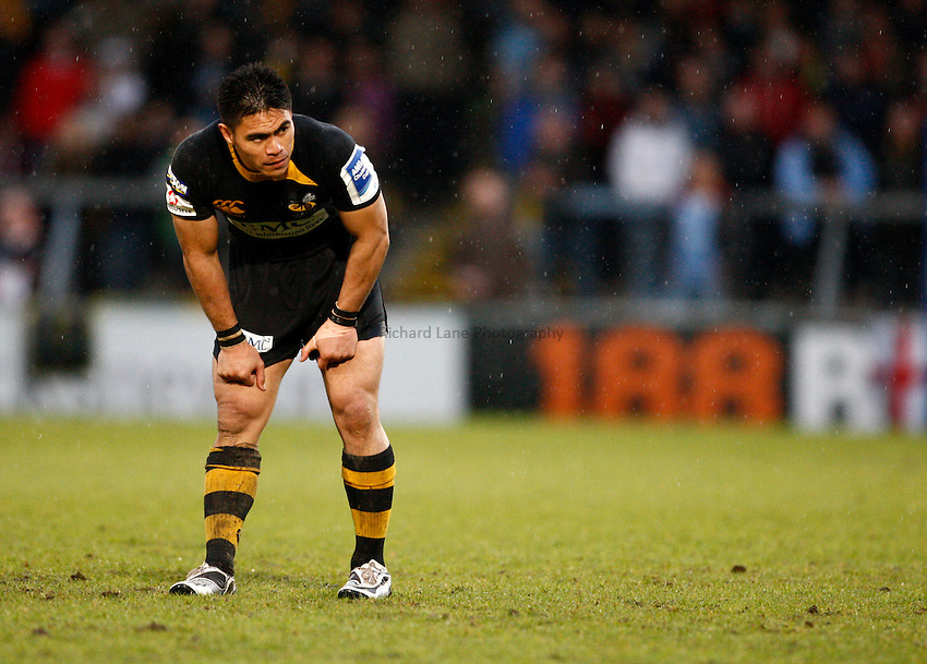 Photo: Richard Lane/Richard Lane Photography. London Wasps v Cardiff Blues. Amlin Challenge Cup Semi Final. 01/05/2010. Wasps' David Lemi.