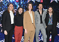 Blossoms (Tom Ogden, Charlie Salt, Joe Donovan, Josh Dewhurst and Myles Kellock) at the Global Awards 2019, Hammersmith Apollo (Eventim Apollo), Queen Caroline Street, London, England, UK, on Thursday 07th March 2019.<br /> CAP/CAN<br /> &copy;CAN/Capital Pictures