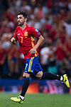 David Villa of Spain in action during their 2018 FIFA World Cup Russia Final Qualification Round 1 Group G match between Spain and Italy on 02 September 2017, at Santiago Bernabeu Stadium, in Madrid, Spain. Photo by Diego Gonzalez / Power Sport Images
