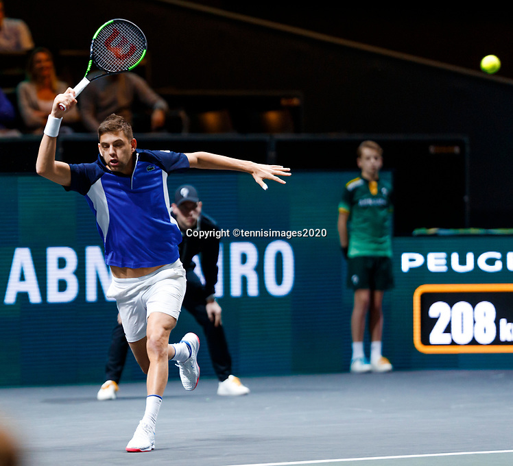 Rotterdam, The Netherlands, 14 Februari 2020, ABNAMRO World Tennis Tournament, Ahoy, <br /> Filip Krajinovic (SRB).<br /> Photo: www.tennisimages.com