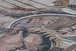 Mosaic floor in the ancient city of Pompeii, Italy