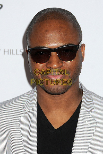 Taio Cruz.20th Annual Race To Erase MS Gala held at the Hyatt Regency Century Plaza Hotel, Century City, California, USA, 3rd May 2013..portrait headshot sunglasses black V-neck T-shirt grey gray jacket .CAP/ADM/BP.©Byron Purvis/AdMedia/Capital Pictures