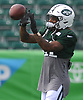 Buster Skrine #41 of the New York Jets practices during training camp at the Atlantic Health Jets Training Center in Florham Park, NJ on Monday, Aug. 6, 2018.