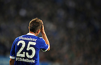 FUSSBALL   CHAMPIONS LEAGUE   SAISON 2012/2013   GRUPPENPHASE   FC Schalke 04 - Montpellier HSC                                   03.10.2012 Klaas Jan Huntelaar (FC Schalke 04) sit enttaeuscht