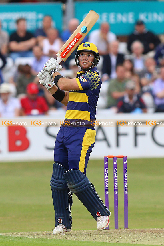 Colin Ingram hits six runs for Glamorgan during Essex Eagles vs Glamorgan, Royal London One-Day Cup Cricket at the Essex County Ground on 26th July 2016