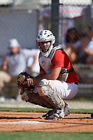 Bret Madren during the WWBA World Championship at the Roger Dean Complex on October 18, 2018 in Jupiter, Florida.  Bret Madren is a catcher from Sandy Springs, Georgia who attends St. Francis High School.  (Mike Janes/Four Seam Images)