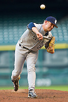 Relief pitcher Kyle Mueller #27 of the Rice Owls in action against the Baylor Bears at Minute Maid Park on March 6, 2011 in Houston, Texas.  Photo by Brian Westerholt / Four Seam Images