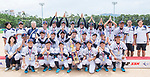 Players and coaches of Japan pose for photo with their medal and trophy during the BFA Women's Baseball Asian Cup Presentation Ceremony at Sai Tso Wan Recreation Ground on September 7, 2017 in Hong Kong, China. Photo by Yu Chun Christopher Wong / Power Sport Images