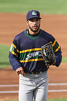 Beloit Snappers outfielder Joe Bennie (6) during a Midwest League game against the Wisconsin Timber Rattlers on May 30th, 2015 at Fox Cities Stadium in Appleton, Wisconsin. Wisconsin defeated Beloit 5-3 in the completion of a game originally started on May 29th before being suspended by rain with the score tied 3-3 in the sixth inning. (Brad Krause/Four Seam Images)