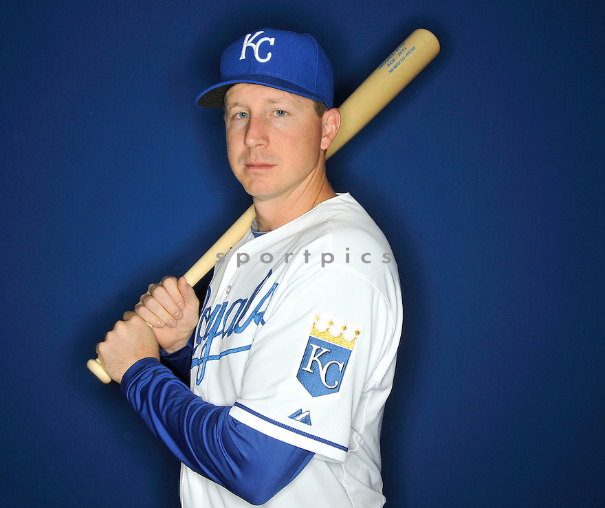 Kansas City Royals Elliott Johnson (80) during media photo day on February 21, 2013 at spring training in Surprise, AZ.