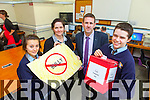 Listowel Community College has now implemented an anti bullying campaign and is increasing their computers in a bid to make changes at the school. Pictured were: Amy O'Connor, Imelda O'Connor (PSB co-ordinator), Cathal Fitzgerald (Principal) and Mark Fealey.