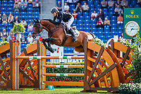 GER-Ingrid Klimke rides SAP Hale Bob OLD during the SAP Cup - CICO4*-S Nations Cup Eventing Showjumping. Interim-3rd. 2019 GER-CHIO Aachen Weltfest des Pferdesports. Friday 19 July. Copyright Photo: Libby Law Photography2019 GER-CHIO Aachen Weltfest des Pferdesports. Friday 19 July. Copyright Photo: Libby Law Photography