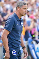 Chris Hughton manager of Brighton & Hove Albion during the Friendly match between Brighton and Hove Albion and Lazio at the American Express Community Stadium, Brighton and Hove, England on 31 July 2016. Photo by Edward Thomas / PRiME Media Images.