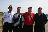 Robert O'Neil, Eoin O'Neil, Paul Kelly and Alan Sharkey at the Abacas Golf Classic in Seapoint Golf Club, Termonfeckin...Photo NEWSFILE/Jenny Matthews.(Photo credit should read Jenny Matthews/NEWSFILE)....This Picture has been sent you under the condtions enclosed by:.Newsfile Ltd..The Studio,.Millmount Abbey,.Drogheda,.Co Meath..Ireland..Tel: +353(0)41-9871240.Fax: +353(0)41-9871260.GSM: +353(0)86-2500958.email: pictures@newsfile.ie.www.newsfile.ie.FTP: 193.120.102.198.