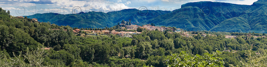 "SAGRA DEL ""PESCE E PATATE"" 2011, BARGA, ITALY<br /> <br /> PANORAMIC VIEW OF THE TOWN OF BARGA."