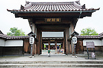 Photo shows the entrance to Nishinkan in Aizuwakamatsu City, Fukushima Prefecture, Japan. Nishinkan was a school for the sons of the region's samurai. Photographer: Rob Gilhooly