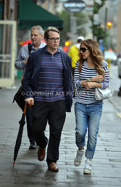 ACEPIXS.COM<br /> <br /> June 13 2014, New York City<br /> <br /> Actors Matthew Broderick and Sarah Jessica Parker walk in the West Village on June 13 2014 in New York City<br /> <br /> <br /> By Line: Curtis Means/ACE Pictures<br /> <br /> ACE Pictures, Inc.<br /> www.acepixs.com<br /> Email: info@acepixs.com<br /> Tel: 646 769 0430
