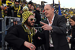 06 December 2015: Portland Timbers owner Merritt Paulson (right) and Columbus legend Frankie Hejduk (left). The Columbus Crew SC hosted the Portland Timbers FC at Mapfre Stadium in Columbus, Ohio in MLS Cup 2015, Major League Soccer's championship game. Portland won the game 2-1.