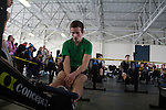 Rowing, rowers on rowing machines, Ergomania, Northwest Indoor Rowing Championship, Seattle, Pocock Rowing Foundation, Concept II, indoor rowing competition, Magnuson Park,