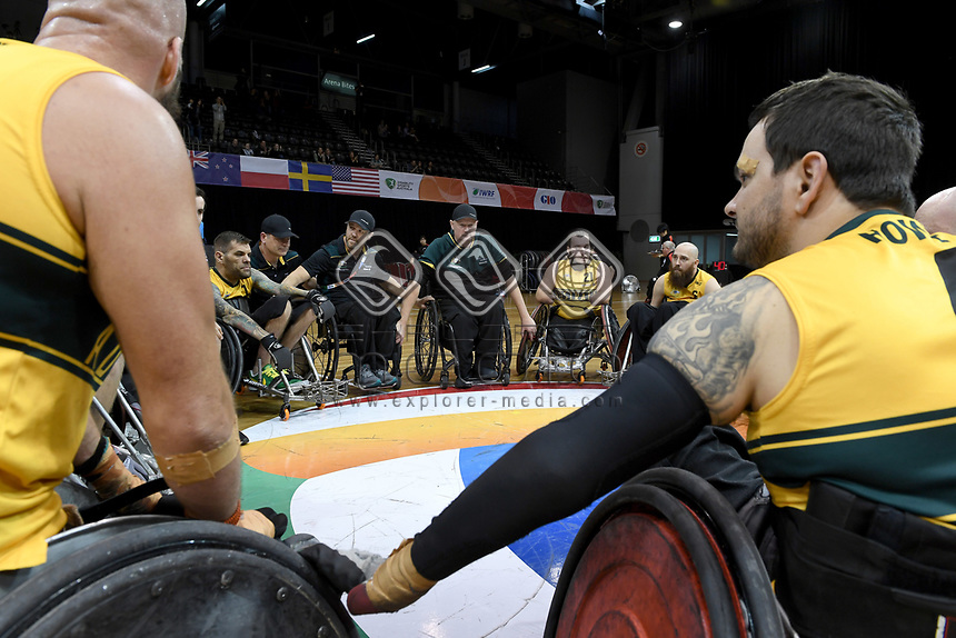 Australian Steelers vs Japan<br /> Australian Wheelchair Rugby Team<br /> 2018 IWRF WheelChair Rugby <br /> World Championship / Day 4<br /> Sydney  NSW Australia<br /> Wednesday 8th August 2018<br /> © Sport the library / Jeff Crow / APC