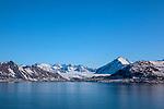 Coastal mountains in Kongsfjord, Ny Alesund, Svalbard