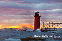 64795-02418 South Haven Lighthouse at sunset South Haven,  MI