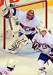 15 November 2008:  Montreal Canadiens' goaltender Jaroslav Halak from Slovakia makes a save against the Philadelphia Flyers in the second period at the Bell Centre in Montreal, Quebec, Canada.  The Canadiens, celebrating their 100th season, fell to the visiting Flyers 2-1. ***Editorial Sales Only***..Mandatory Photo Credit: Ed Wolfstein Photo *** Editorial Sales through Icon Sports Media *** www.iconsportsmedia.com