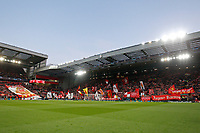 """The Kop singing """"You'll Never Walk Alone before the UEFA Champions League Quarter Final first leg match between Liverpool and Porto at Anfield on April 9th 2019 in Liverpool, England. (Photo by Daniel Chesterton/phcimages.com)<br /> Foto PHC/Insidefoto <br /> ITALY ONLY"""