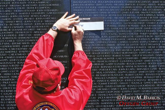 Etching Name Of Fallen Soilder, Vietnam Memorial