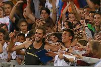 Esultanza co i Tifosi di Gianmarco Tamberi ITA High Jump Men, celebration   <br /> Roma 02-06-2016 Stadio Olimpico.<br /> IAAF Diamond League 2016<br /> Atletica Legera <br /> Golden Gala Meeting - Track and Field Athletics Meeting<br /> Foto Cesare Purini / Insidefoto