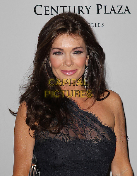 Lisa Vanderpump.20th Annual Race To Erase MS Gala held at the Hyatt Regency Century Plaza Hotel, Century City, California, USA, 3rd May 2013..portrait headshot one shoulder sheer lace grey gray earrings dangly .CAP/ADM/KB.©Kevan Brooks/AdMedia/Capital Pictures