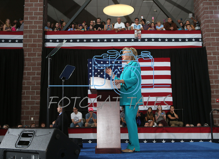 Democratic presidential nominee Hillary Clinton stumps at Truckee Meadows Community College in Reno, Nev., on Thursday, Aug. 25, 2016. Cathleen Allison/Las Vegas Review-Journal