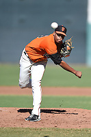 San Francisco Giants pitcher Alvaro Diaz (69) during an Instructional League game against the SK Wyverns on October 14, 2014 at Giants Baseball Complex in Scottsdale, Arizona.  (Mike Janes/Four Seam Images)