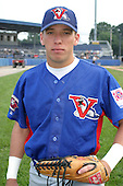 August 15, 2003:  Franklin Jimenez of the Vermont Expos during a game at Dwyer Stadium in Batavia, New York.  Photo by:  Mike Janes/Four Seam Images