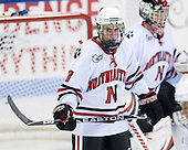 Mike McLaughlin (NU - 18) - The Northeastern University Huskies defeated the Bentley University Falcons 3-2 on Friday, October 16, 2009, at Matthews Arena in Boston, Massachusetts.