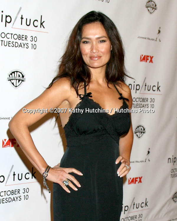 Tia Carrere.Season 5 Premiere of Nip/Tuck.Paramount Studios.Los Angeles,  CA.October 20, 2007.©2007 Kathy Hutchins / Hutchins Photo...               .