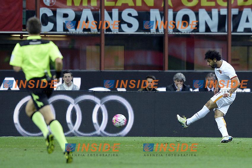 gol Mohamed Salah<br /> Milano 14-05-2016 Stadio Giuseppe Meazza Football Calcio Serie A 2015/2016 Milan-Roma . Foto Daniele Buffa / Image Sport / Insidefoto