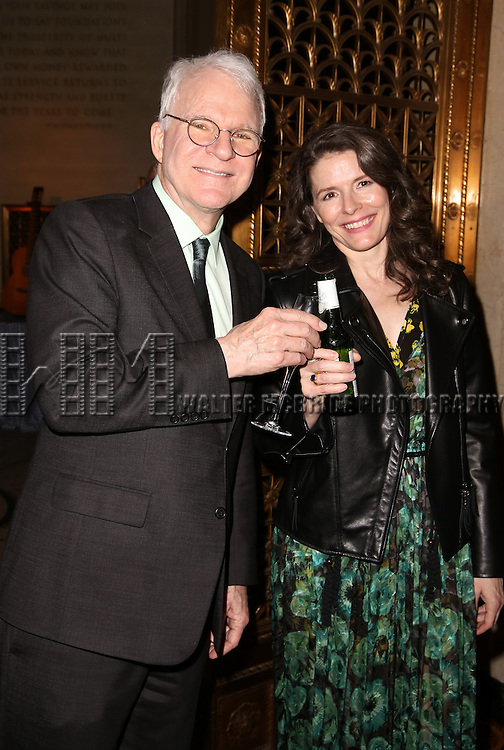 Steve Martin and Edie Brickell attends the 'Bright Star' Opening Night after party at Gotham Hall on March 24, 2016 in New York City.
