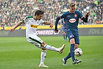 04.11.2018, Borussia Park , Moenchengladbach, GER, 1. FBL,  Borussia Moenchengladbach vs. Fortuna Duesseldorf,<br />  <br /> DFL regulations prohibit any use of photographs as image sequences and/or quasi-video<br /> <br /> im Bild / picture shows: <br /> Jonas Hofmann (Gladbach #23),   Marvin Ducksch (Fortuna Duesseldorf #10),    <br /> <br /> Foto &copy; nordphoto / Meuter