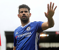 Chelsea's Diego Costa celebrates the winning goal<br /> <br /> Photographer Mick Walker/CameraSport<br /> <br /> The Premier League - Stoke City v Chelsea - Saturday 18th March 2017 - bet365 Stadium - Stoke<br /> <br /> World Copyright &copy; 2017 CameraSport. All rights reserved. 43 Linden Ave. Countesthorpe. Leicester. England. LE8 5PG - Tel: +44 (0) 116 277 4147 - admin@camerasport.com - www.camerasport.com