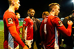 Shepherd Murombedzi of Brackley Town leaves the pitch at full time. Blyth Spartans v Brackley Town, 30112019. Croft Park, National League North. Photo by Paul Thompson.