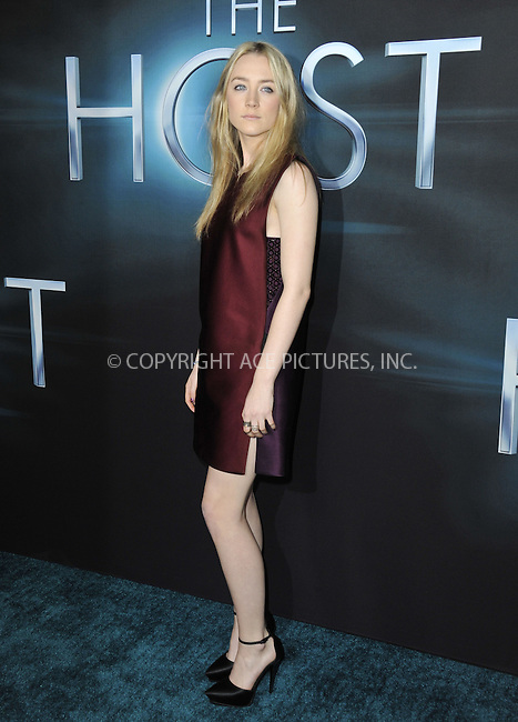 WWW.ACEPIXS.COM....March 19 2013, LA....Saoirse Ronan arriving at the 'The Host' Los Angeles premiere at the ArcLight Cinemas Cinerama Dome on March 19, 2013 in Hollywood, California. ....By Line: Peter West/ACE Pictures......ACE Pictures, Inc...tel: 646 769 0430..Email: info@acepixs.com..www.acepixs.com